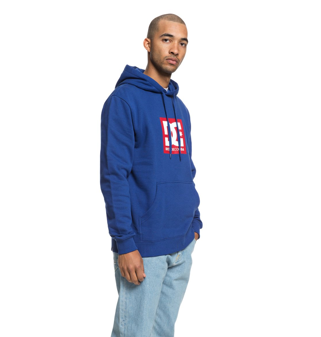 d87924f84393 1 Square Star Hoodie Blue EDYSF03167 DC Shoes