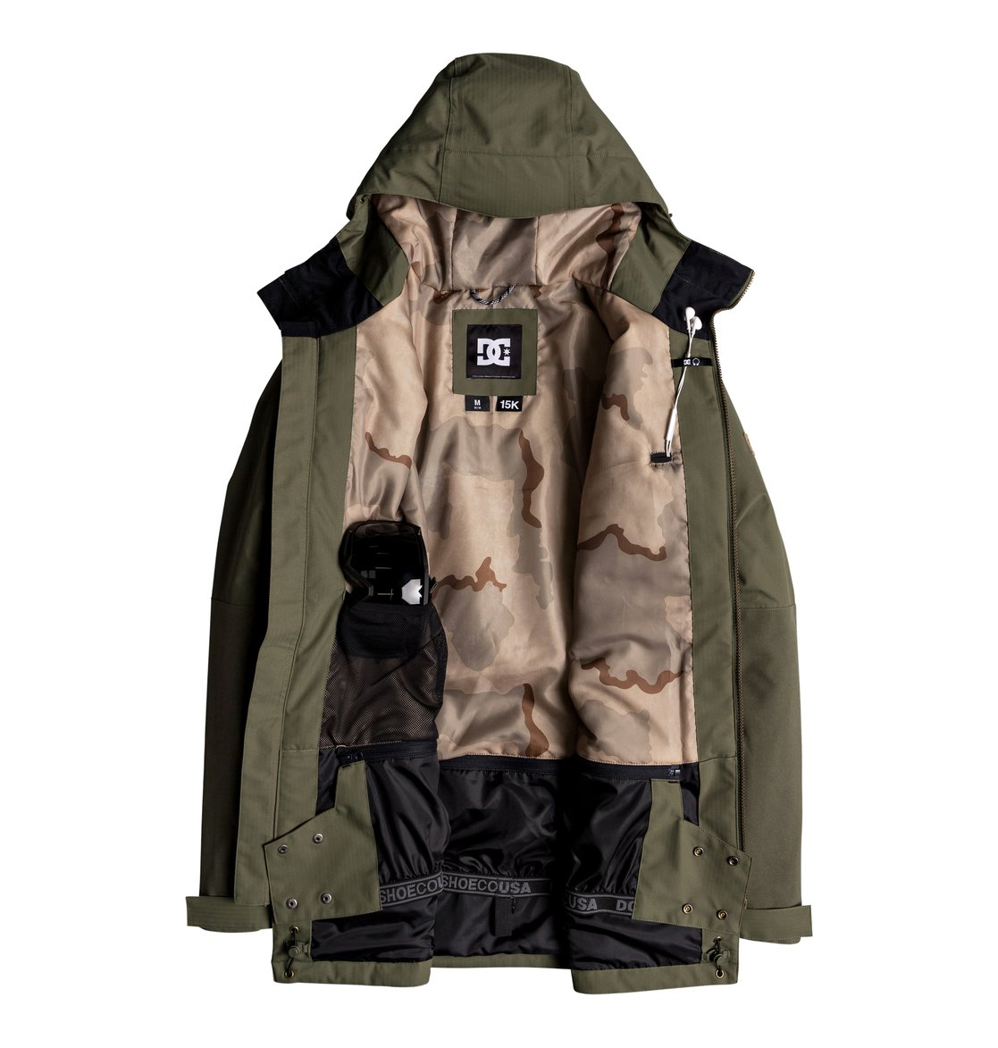 7b52ccef036 2 Summit - Parka Snow Jacket for Men Green EDYTJ03068 DC Shoes