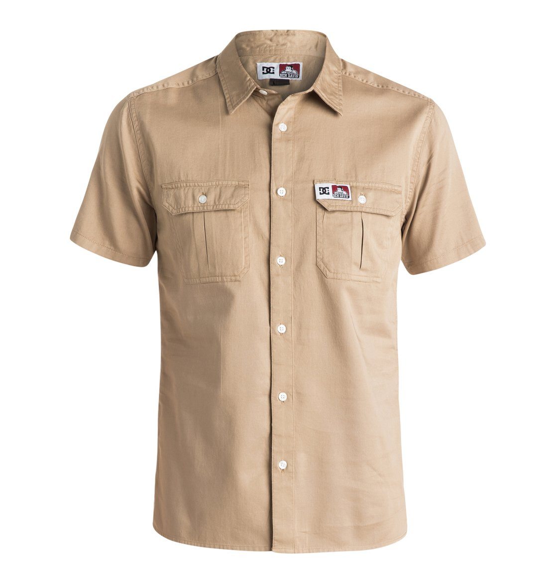 65473c02dff 0 Ben Davis Shirt - Short Sleeve Shirt Beige EDYWT03074 DC Shoes
