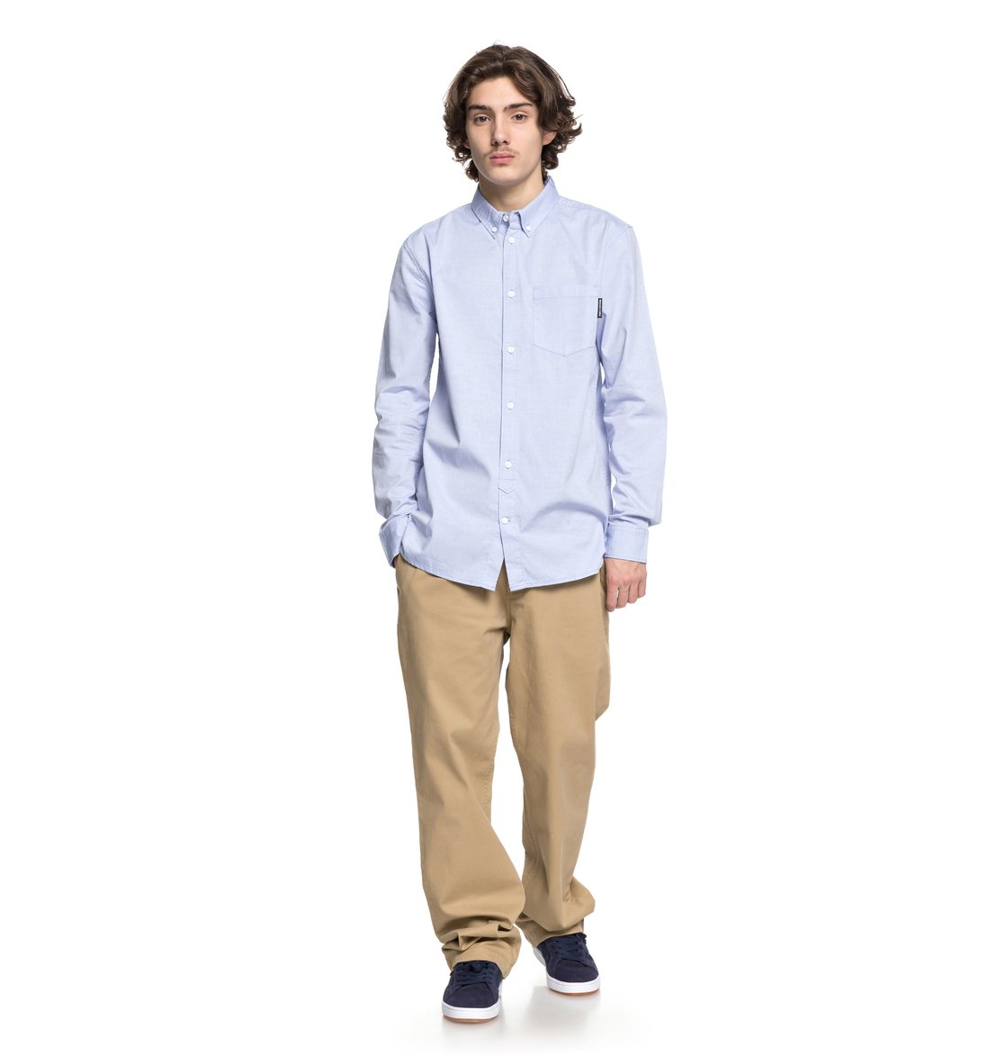 87ee04be048 1 Classic Oxford Light Long Sleeve Shirt EDYWT03183 DC Shoes