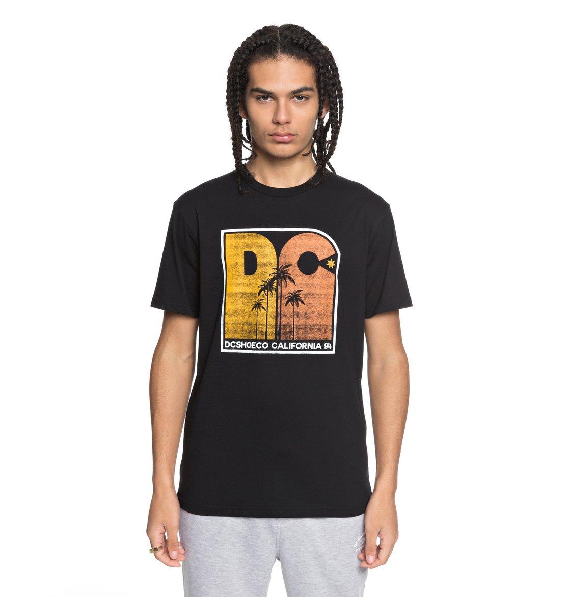 DC-Shoes-Sunset-Palms-Camiseta-para-Hombre-EDYZT03767 miniatura 7