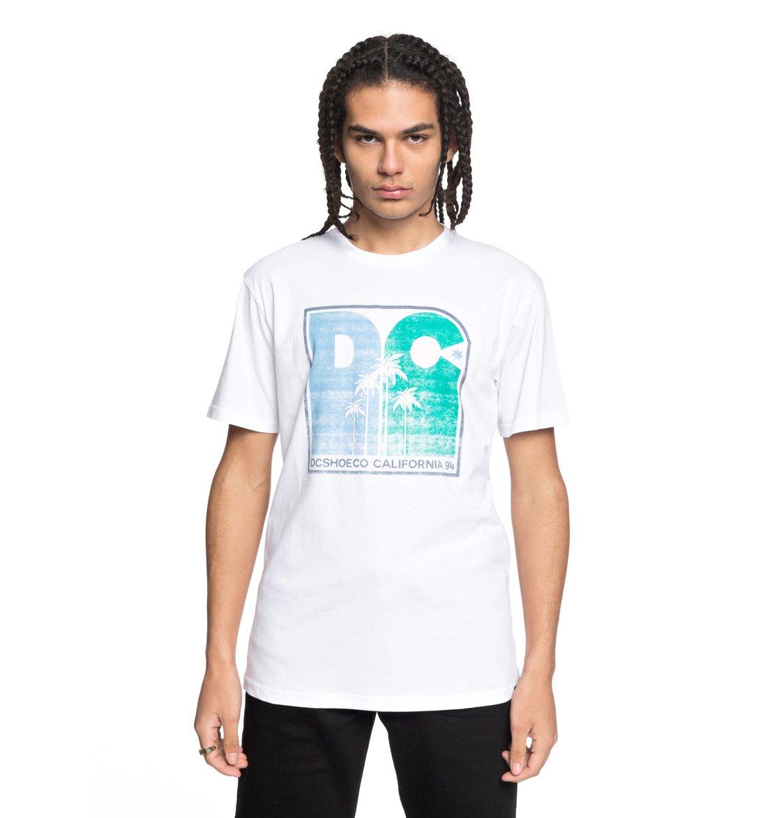 DC-Shoes-Sunset-Palms-Camiseta-para-Hombre-EDYZT03767 miniatura 11