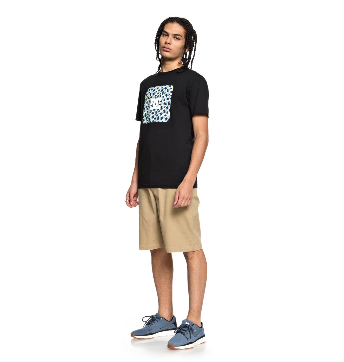 DC-Shoes-Shuffle-Face-Camiseta-para-Hombre-EDYZT03777 miniatura 6