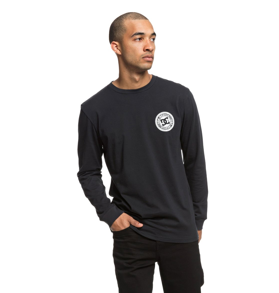 7dca4bac2cc6 2 Circle Star - Long Sleeve T-Shirt for Men Black EDYZT03829 DC Shoes