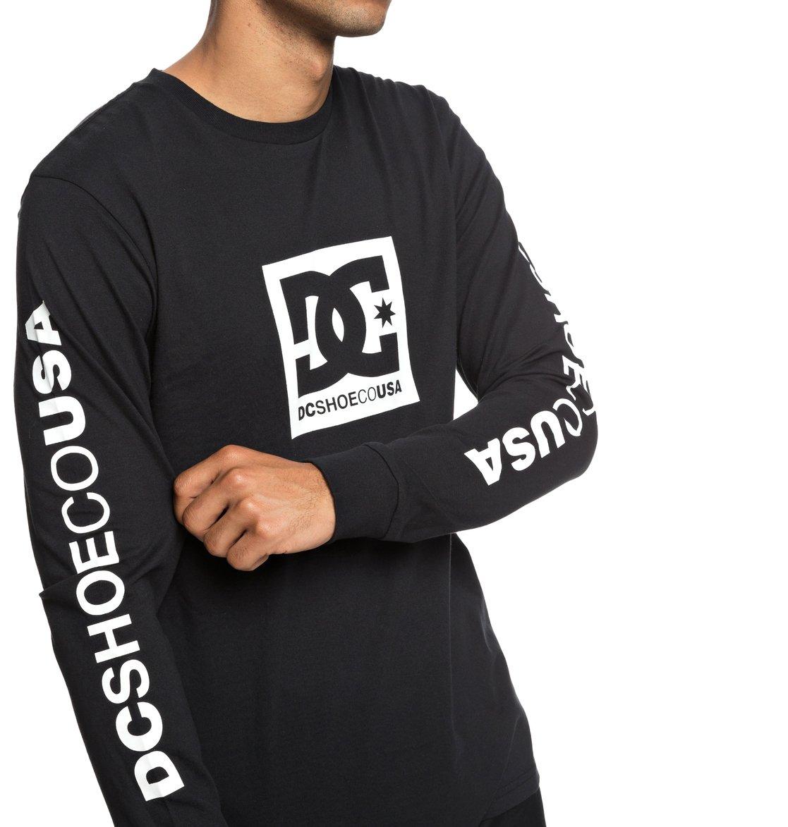 4764725673 2 Square Star - Long Sleeve T-Shirt for Men Black EDYZT03830 DC Shoes