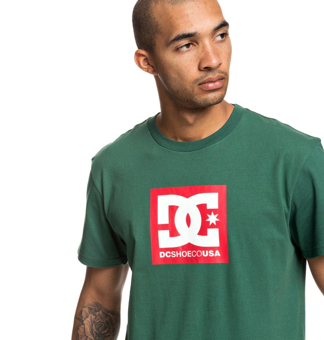 93f8cc94e416e 1 Square Star - T-shirt pour Homme Vert EDYZT03902 DC Shoes
