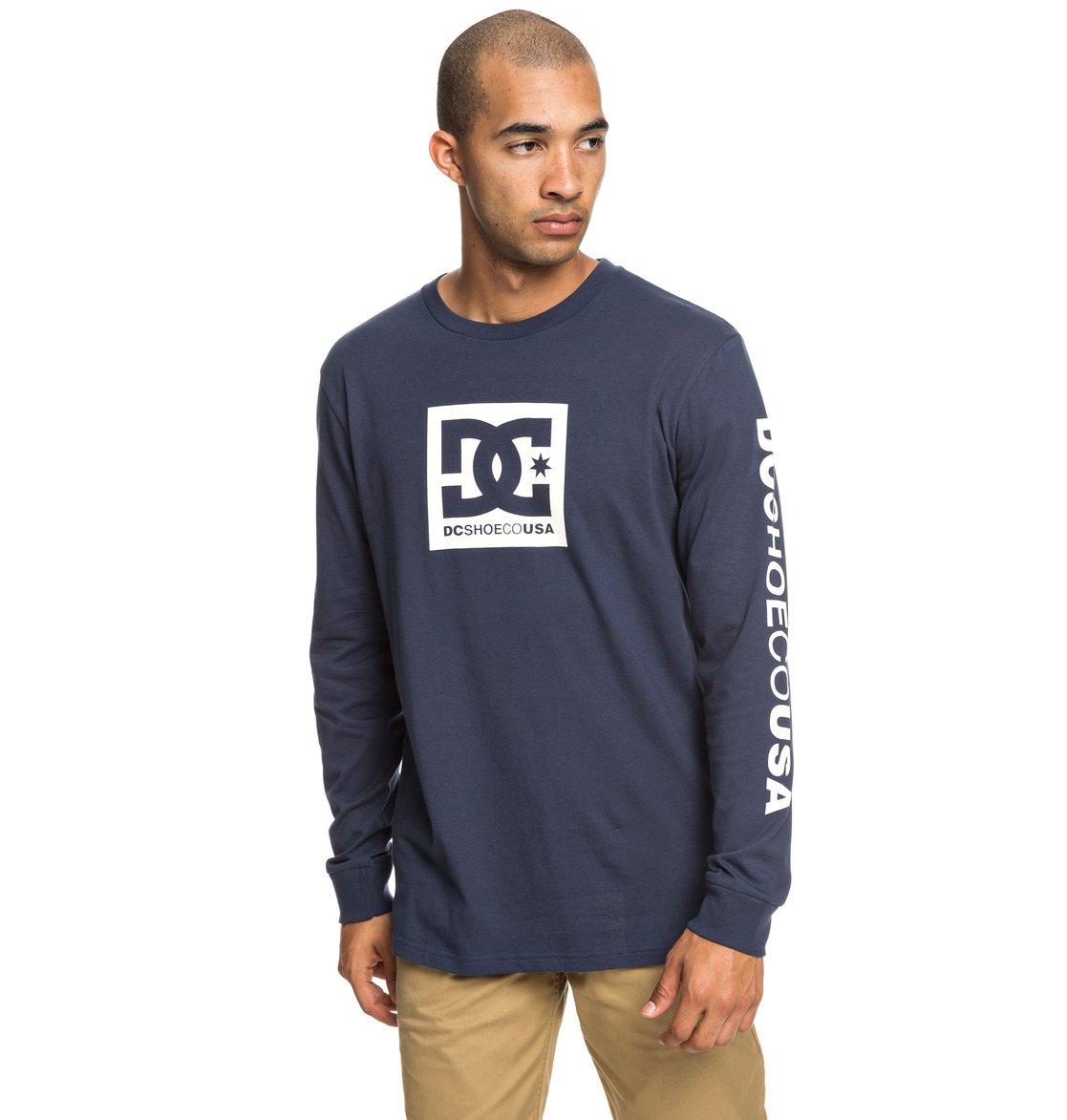 8d31a5aa20748 0 Square Star - T-shirt manches longues pour Homme Bleu EDYZT03915 DC Shoes