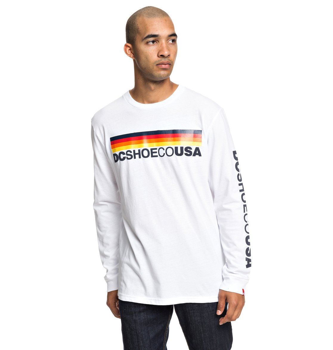 1ea0734210 0 Flag Nine Four - Long Sleeve T-Shirt for Men White EDYZT03927 DC Shoes