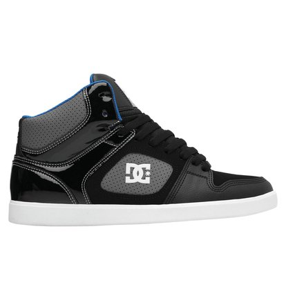 DC Union High Top Skate Shoes Mens Black//Red Skateboarding Trainers Sneakers