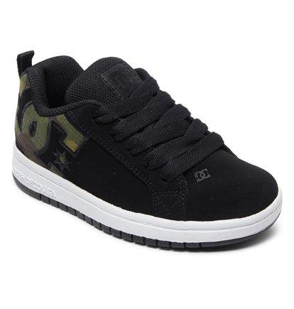Camo New DC Boy/'s Court Graffik SE Shoe