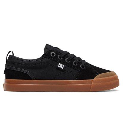 Boys Shoes Grosby Evan Black Leather Hook and Loop School Shoe