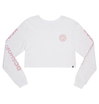 XL DC Men/'s Circle Star Long Sleeve TEE Shirt Snow White