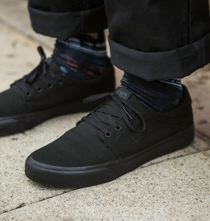 DC Shoes Mens Trase TX Shoes Black White