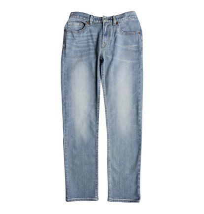 Worker Light Indigo Blue - Straight Fit Jeans for Boys 8-16  EDBDP03046