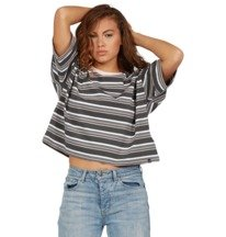 Effortless Stripe - Cropped T-Shirt for Women  ADJKT03019
