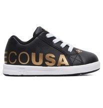 Court Graffik Elastic - Leather Elastic-Laced Shoes for Kids  ADTS700036