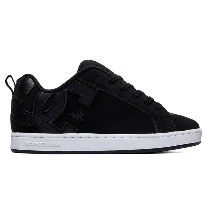 0 Women's Court Graffik Shoes Black 300678 DC Shoes