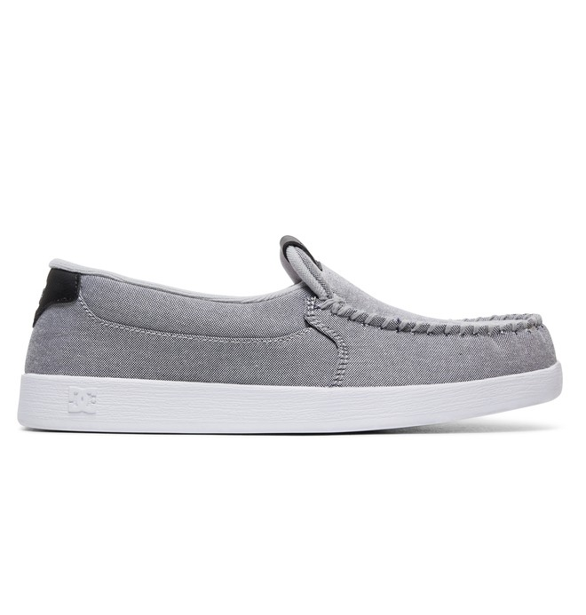 0 Villain TX Slip On Shoes Grey 301815 DC Shoes