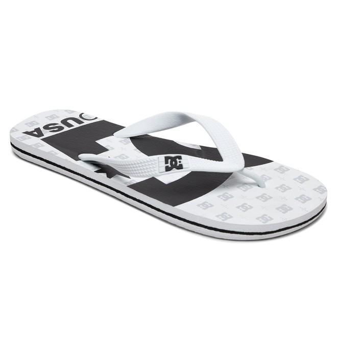 0 Spray Graffik - Tongs pour Homme Blanc 303276 DC Shoes