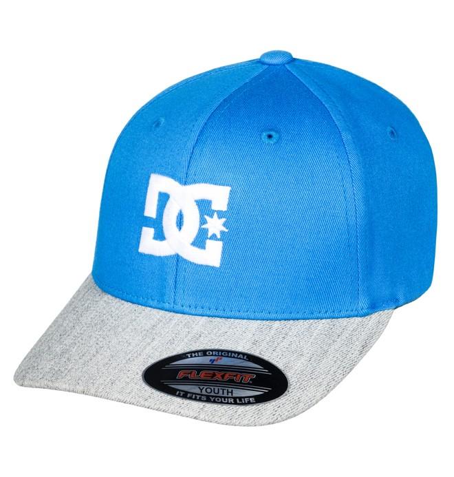 0 Boy's 8-16 Cap Star 2 Flexfit Hat Blue ADBHA03026 DC Shoes