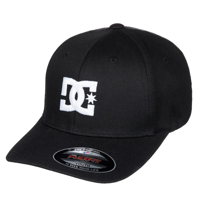 0 Boy's 8-16 Cap Star 2 Flexfit Hat Black ADBHA03026 DC Shoes