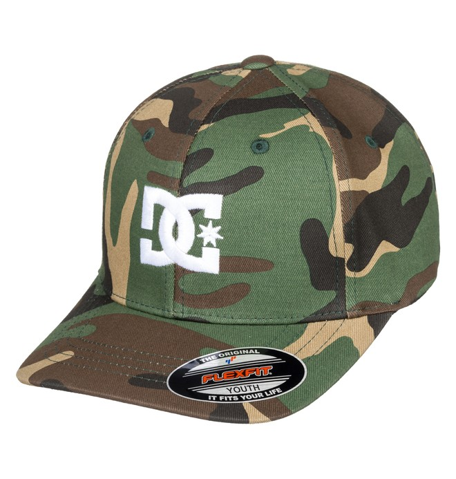 0 Boy's 8-16 Cap Star Flexfit® Hat Green ADBHA03095 DC Shoes