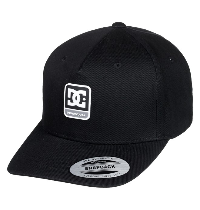 0 Snapdragger Snapback Hat Black ADBHA03108 DC Shoes