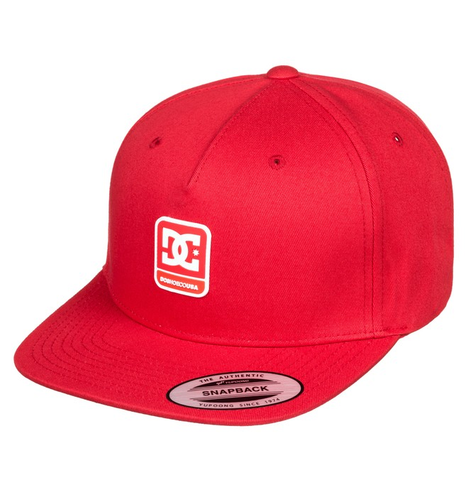 0 Snapdragger Snapback Hat Red ADBHA03108 DC Shoes