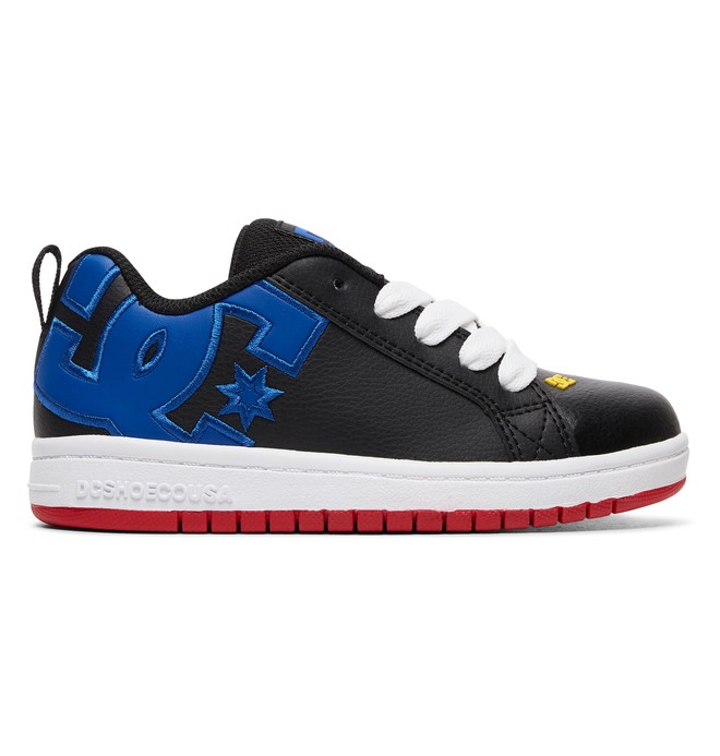 0 Kid's Court Graffik Shoes Blue ADBS100207 DC Shoes