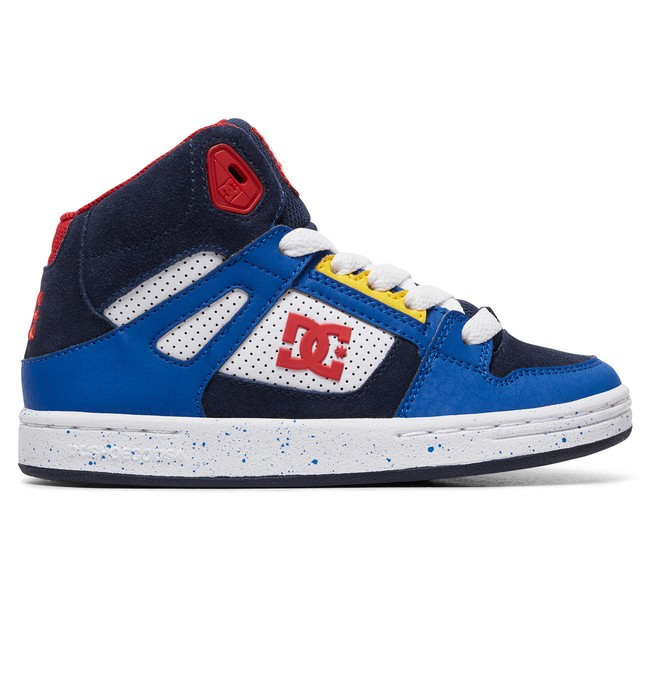 0 Boy's 8-16 Pure High SE High-Top Shoes Blue ADBS100244 DC Shoes