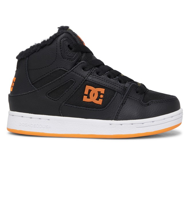 0 Boy's 8-16 Pure WNT Winter High-Top Boots Black ADBS100245 DC Shoes