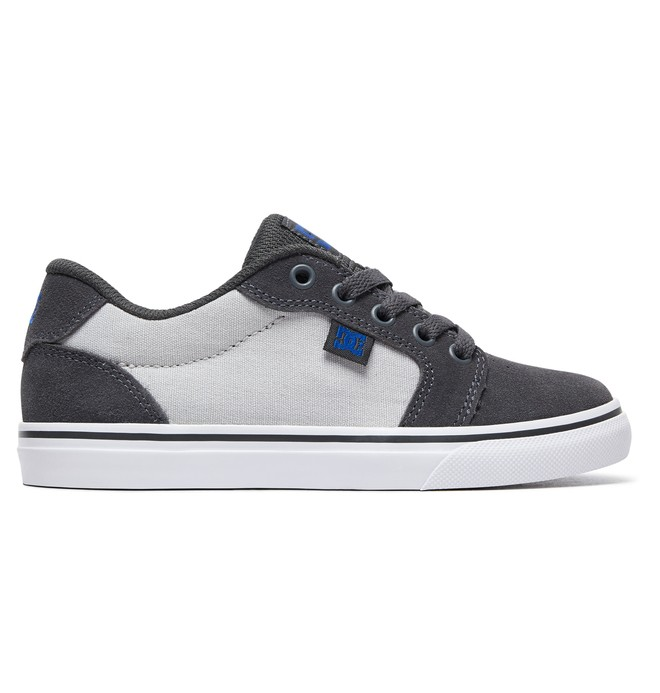 0 Kid's Anvil Shoes Grey ADBS300245 DC Shoes