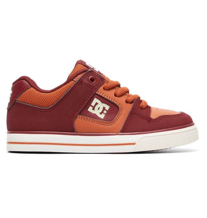 0 Boy's 8-16 Pure Shoes Red ADBS300267 DC Shoes