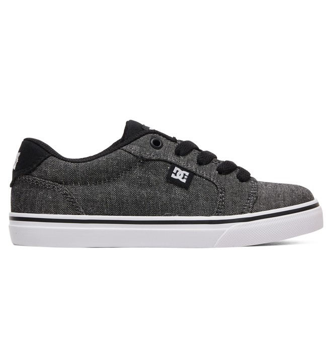 0 Boy's 8-16 Anvil SE Shoes Black ADBS300279 DC Shoes