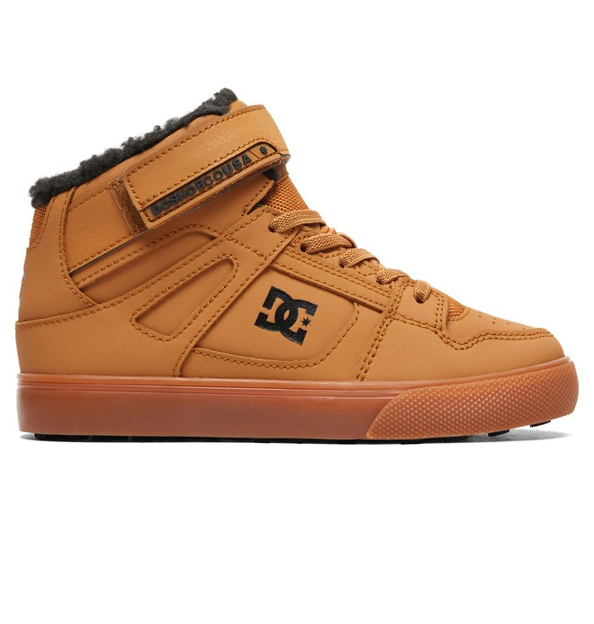 0 Boy's 8-16 Pure WNT Winter High-Top Boots Beige ADBS300327 DC Shoes