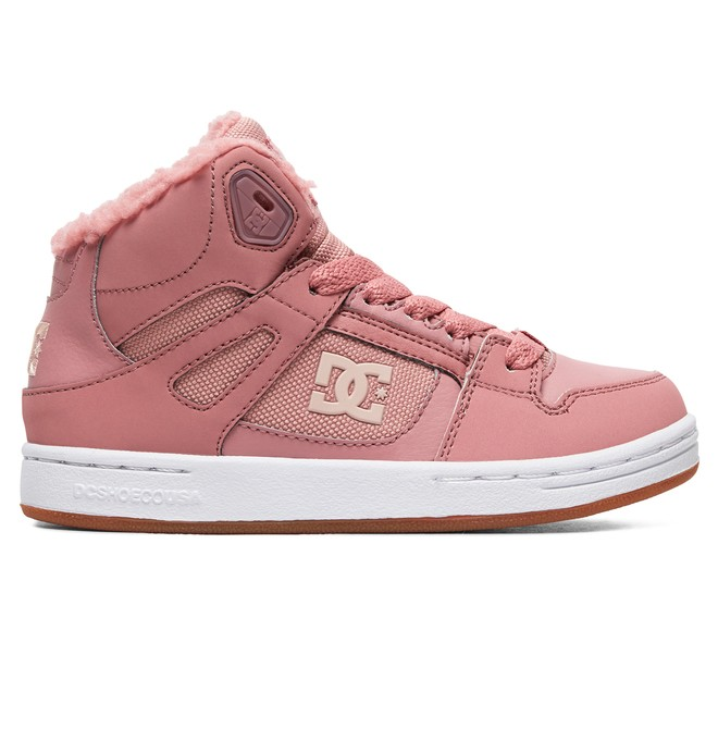 0 Girl's 8-16 Pure WNT Winter High-Top Boots Pink ADGS100082 DC Shoes