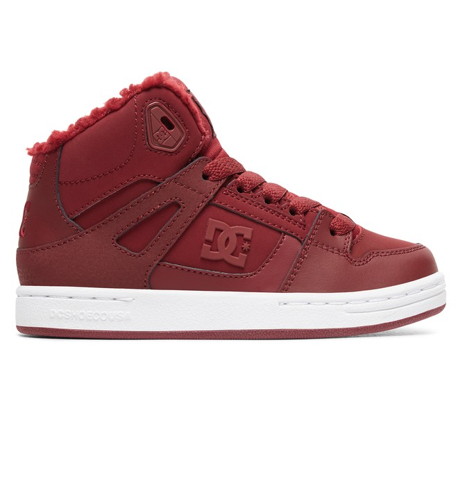 0 Girl's 8-16 Pure WNT Winter High-Top Boots Red ADGS100082 DC Shoes