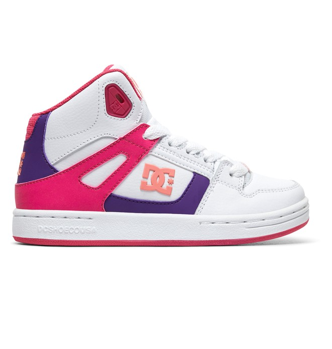 0 Girl's 8-16 Pure HT SE High-Top Shoes White ADGS100085 DC Shoes