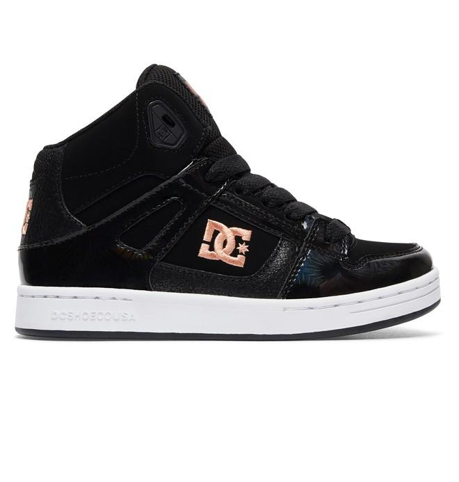 0 Kid's Rebound SE High Top Shoes  ADGS100204 DC Shoes