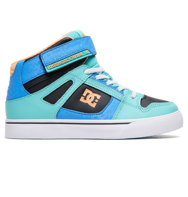 0 Girl's 8-16 Pure High EV High-Top Shoes Orange ADGS300092 DC Shoes