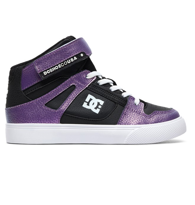 0 Girl's 8-16 Pure HT SE High-Top Shoes Purple ADGS300093 DC Shoes