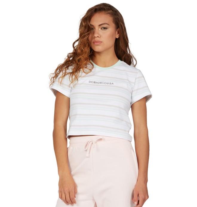Effortless Stripe - Cropped T-Shirt for Women  ADJKT03009