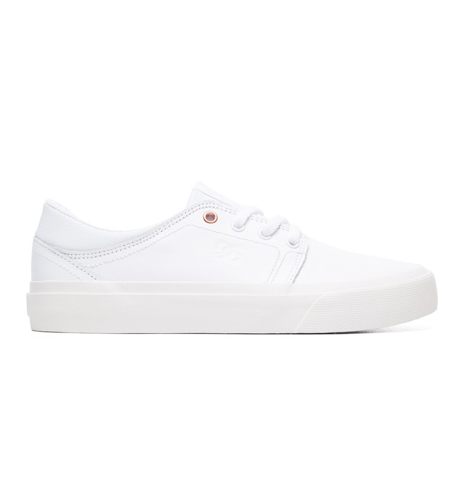 0 Women's Trase LE Leather Shoes White ADJS300145 DC Shoes