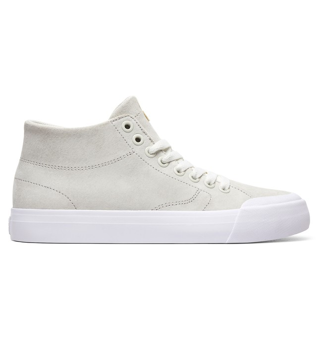0 Evan Hi Zero - High-Top Leather Shoes for Women White ADJS300225 DC Shoes