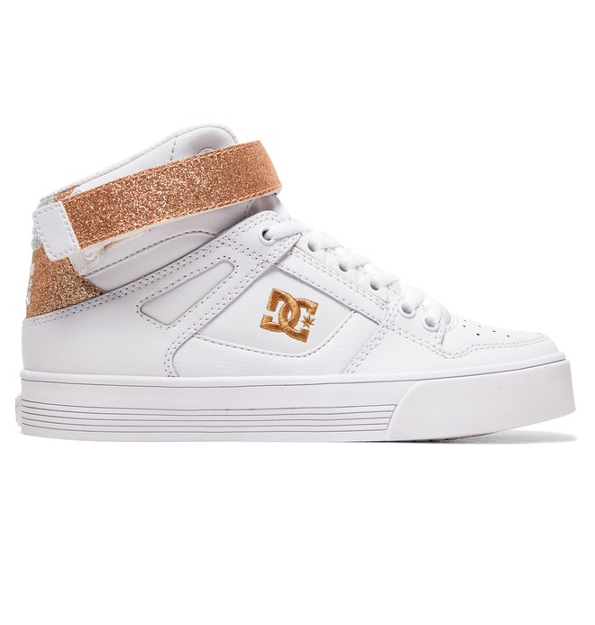 0 Pure High-Top V High-Top Leather Shoes White ADJS400012 DC Shoes