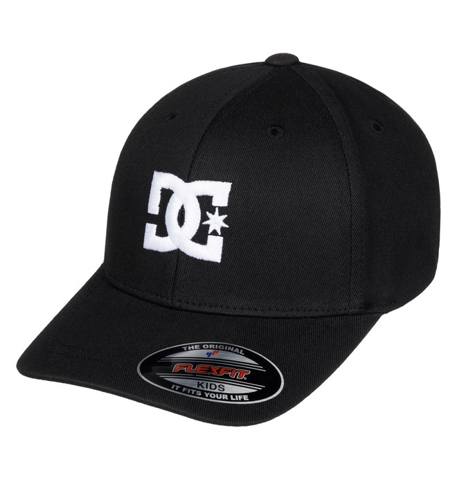 0 Boy's 2-7 Hat Star Flexfit Hat Black ADKHA03002 DC Shoes