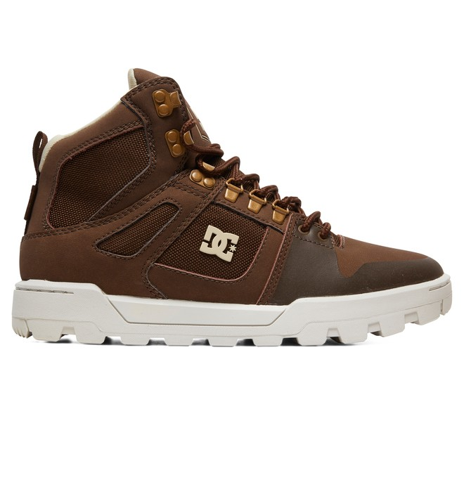 0 Pure WNT Water Resistant Leather Boots Brown ADYB100006 DC Shoes
