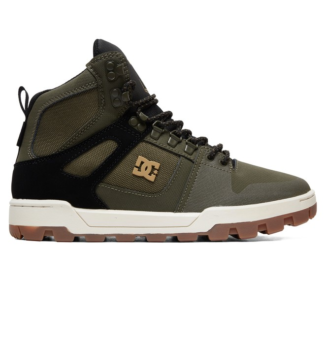 0 Pure WNT Water Resistant Leather Boots Green ADYB100006 DC Shoes