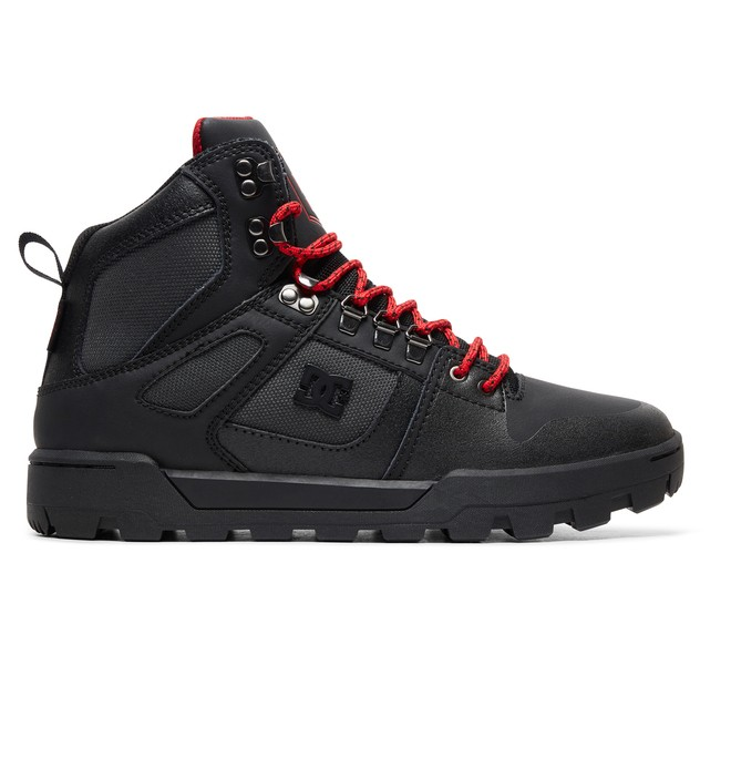 0 Pure WNT Water Resistant Leather Boots Black ADYB100006 DC Shoes