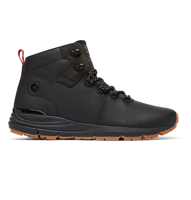 0 Muirland Lace-Up Leather Boots Black ADYB700021 DC Shoes